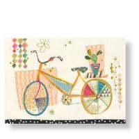 Geburtstagskarte mit Fahrrad
