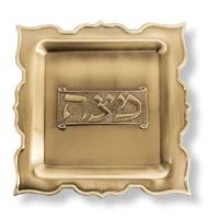 Goldfarbener Mazzateller aus Metall