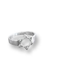 Davidstern-Ring aus Sterlingsilber