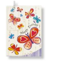 Grußkarte zum Geburtstag mit Geschenkanhänger